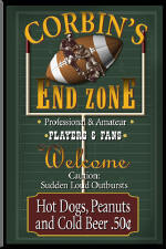 football personalized pub signs