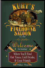 fireman personalized tavern sign
