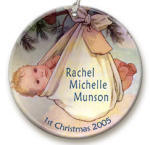 Babys first christmas ornaments image