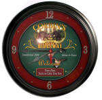 Bear Cabin Bar Clock