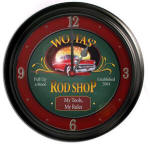 Rod Shop Bar Bar Clock