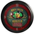 Irish Pub Bar Clock