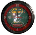 Deep Sea Fishing Bar Clock