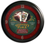 Poker Bar Clock