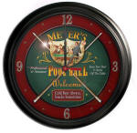 Pool Hall Bar Clock