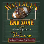 football personalized bar coasters