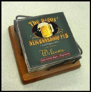 personalized bar coasters by Simply Sublime!