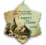 Church personalized christmas ornaments image