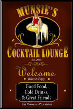 Cocktail Lounge Personalized Bar Signs