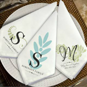 Personalized cloth dinner napkins