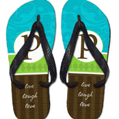 Personalized flip flops for kids