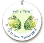Frog Couple personalized Ornament image