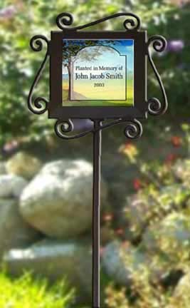 personalized garden stake, personalized garden marker, unique garden marker, memorial garden marker, et memorial, garden stake