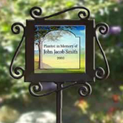 Personalized memorial garden markers