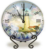 Personalized lighthouse Clock
