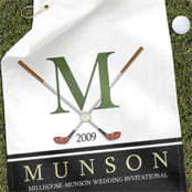 Personalized golf towels