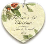 personalized Holly Ornament ornament