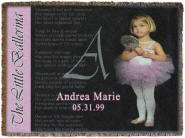 Personalized baby blanket, Ballerina Throw