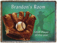 Personalized baby blanket, Baseball Throw