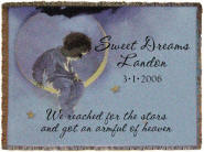 Personalized Boy In Moon BlanketThrow