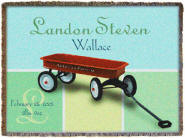Red Wagon Throw