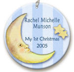 personalized Moon n Stars ornament