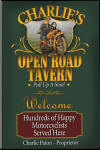 Motorcycle tavern sign