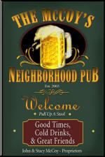 beer mug personalized pub signs