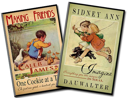 Personalized nostalgic signs for kids