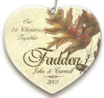 personalized Fall Leaves ornament