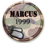 personalized Camouflage ornament