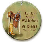 personalized Saddle ornament