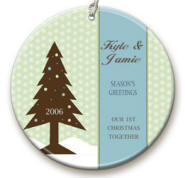Dotted Tree personalized Ornaments Image