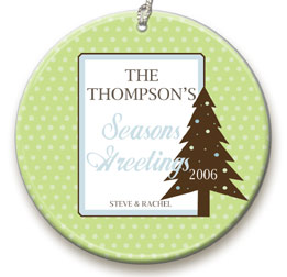 personalized Green Polka Dot ornament