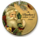 personalized Vintage Santa ornament