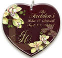 personalized Orchid ornament