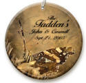 personalized Sepia Butterfly ornament