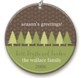 personalized Tree Row ornament