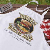 Personalized grilling aprons