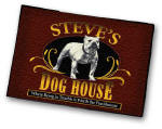 Personalized bar welcome mat