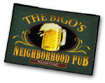 persoanlized neighborhood bar welcome mat