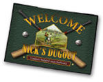 personalized baseball welcome mat