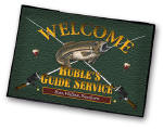 personalized fishing bar rug