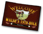 personalized 19th hole bar rug