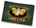 personalized pub  barkeep welcome mat