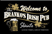 Personalized Black Irish Pub Bar Sign