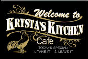 Personalized Black Kitchen Sign