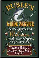 Deep Sea Fishing personalized Bar Signs