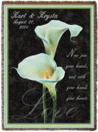 calla lily personalized blankets