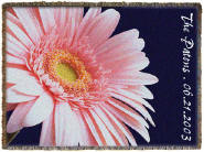 pink daisy personalized throw